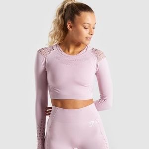 Gymshark Flawless Knit Long Sleeve Crop Top